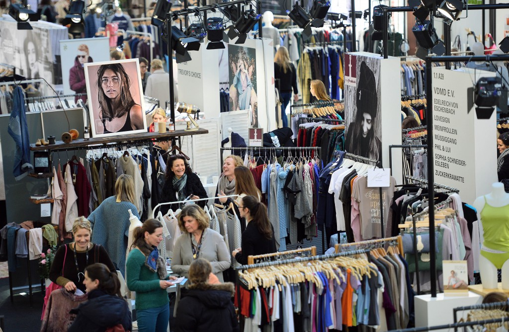 BERLIN, GERMANY - JANUARY 19: Greenshowroom/Ethical Fashion Show, at Postbahnhof Berlin, 19.01.2016. Visitors and buyers at Ethical Fashion Show. (Photo: Thomas Lohnes/gettyimages for Messe Frankfurt)