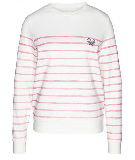 ARMEDANGELS Philomena Shell On Stripes off white-vibrant coral | M