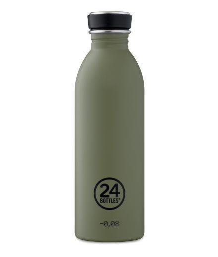 24Bottles Trinkflasche 0,5 Liter stone sage