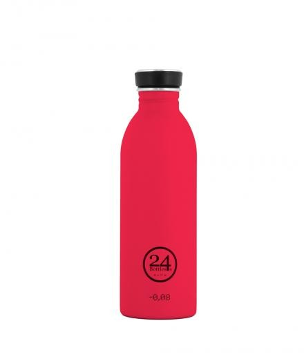 24Bottles Trinkflasche 0,5 Liter hot red