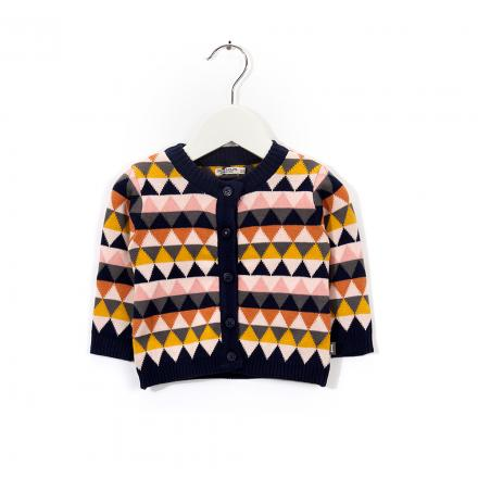 IMPS&ELFS Cardigan Long Sleeve Multicolour Pink