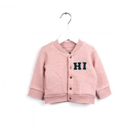 IMPS&ELFS Cardigan Long Sleeve  Earth Pink Melange | 80cm