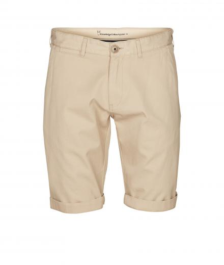 Knowledge Cotton Apparel Twisted Twill Shorts Light feather gray | 32