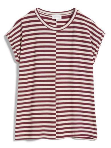 ARMEDANGELS Jaarin Knitted Stripe kitt-ruby red