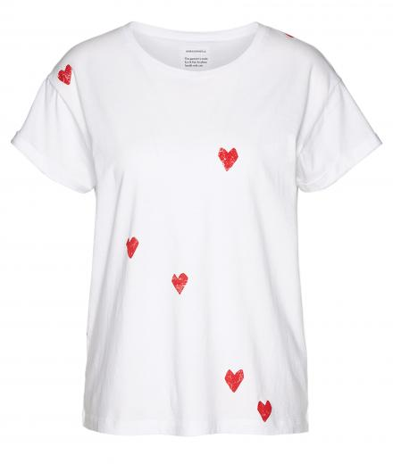 ARMEDANGELS Nalin Hearts white | S