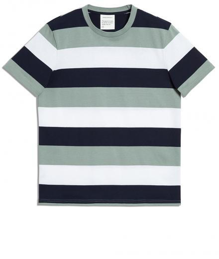 ARMEDANGELS Daarian Blockstripes chinois green-navy