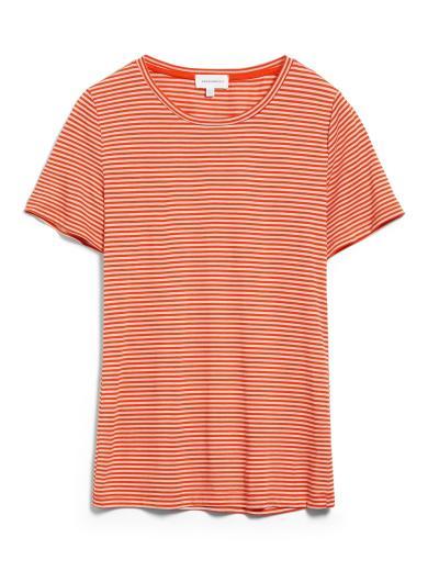 ARMEDANGELS Lidiaa Ring Stripes glossy orange-kitt