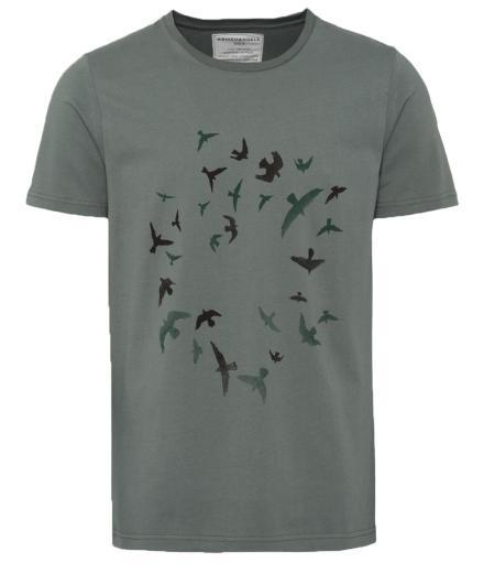 ARMEDANGELS James Circle Birds Graphite Green | L