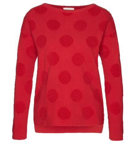 ARMEDANGELS Noelia Fluffy Dots scarlet red | S