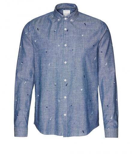 ARMEDANGELS Quinn Geo Minimal blue | XL