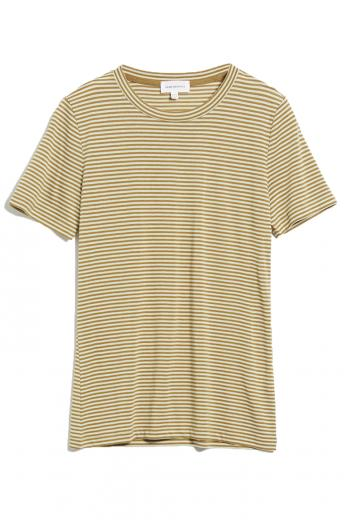 ARMEDANGELS Lidaa Ring Stripes golden khaki-pistachio | S