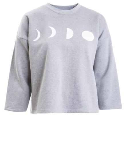 ALAS Grey Melange Moons Pullover