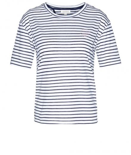 ARMEDANGELS Larissa Shell Stripes white-dark cobalt | XS