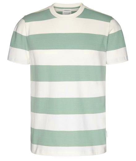 ARMEDANGELS Daarian T-Shirt chinois green-offwhite | L