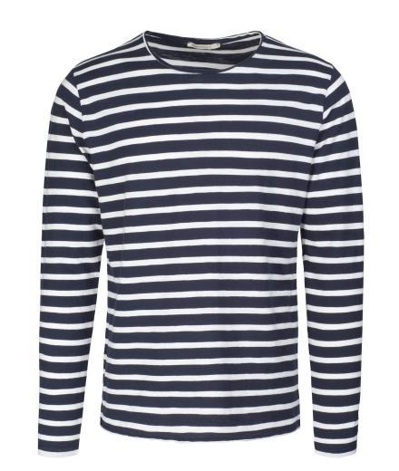 ARMEDANGELS Adrian Stripes navy-off white | L
