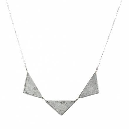 ARTICLE22 Triple Triangle Sterling Tribal Necklace