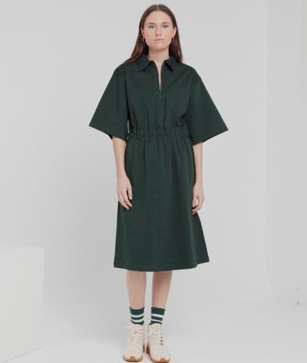 Thinking MU Kyoto Dress scarab green