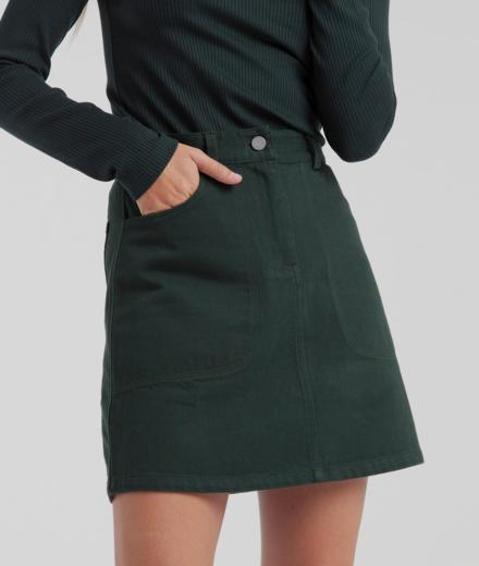 Thinking MU Marsha Short Skirt Green | L