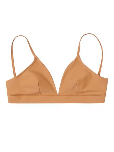 Organic Basics Re-Swim Bikini Top Ocher