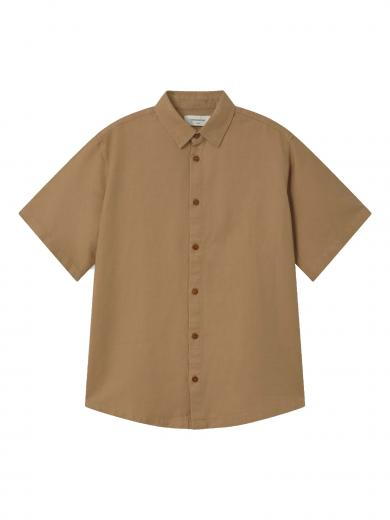 Thinking MU Hemp Shirt Camel