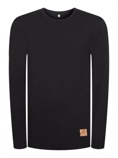 Bleed Clothing Knitted Flachstrickpullover Schwarz