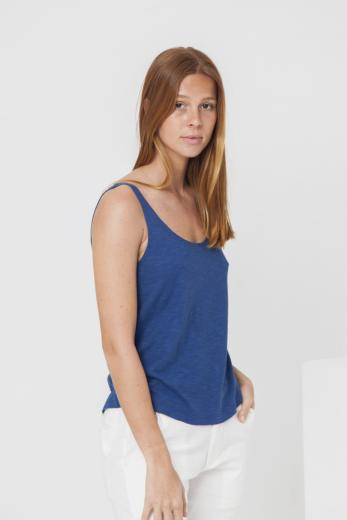 Thinking MU Hemp Tank Top blue marino