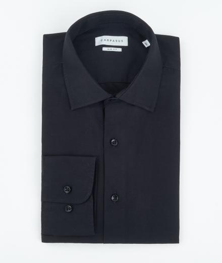 CARPASUS Hemd Classic Slim Fit schwarz