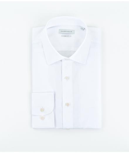 CARPASUS Hemd Classic Slim Fit weiss
