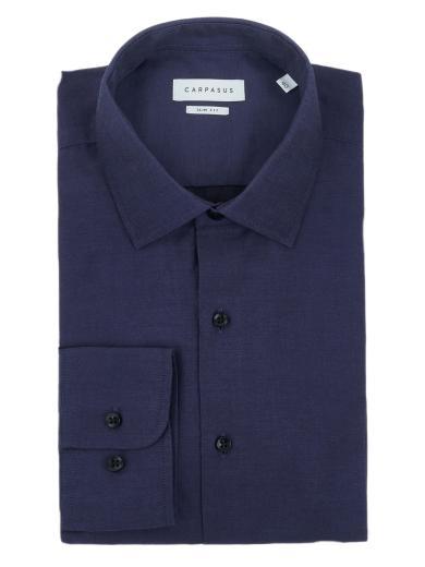 CARPASUS Hemd Classic Slim Fit dunkelblau