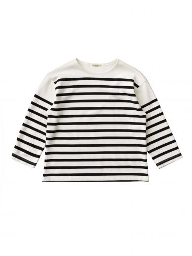 Nudie Jeans Charlotte Breton Stripe off white / black