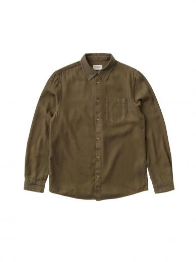 Nudie Jeans Chuck Fluid Twill army | S