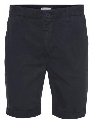 Knowledge Cotton Apparel Chuck regular chino poplin shorts Total Eclipse