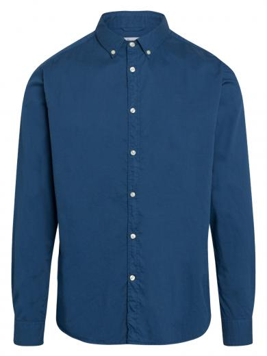 Knowledge Cotton Apparel LARCH casual fit cord shirt Dark Denim