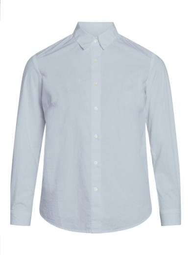 Knowledge Cotton Apparel Danica classic slim fit shirt Skyway