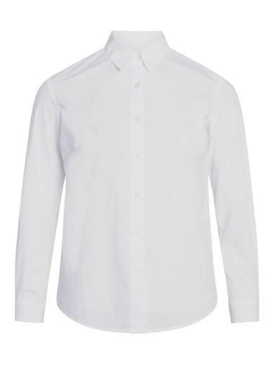 Knowledge Cotton Apparel Danica classic slim fit shirt Bright White