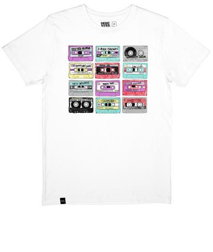 DEDICATED T-Shirt Stockholm Color Cassettes white | M