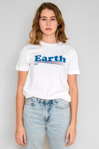 DEDICATED T-Shirt Mysen Vote Earth white | S