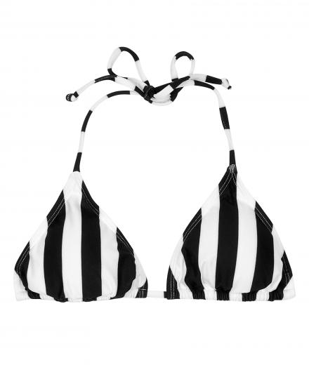 DEDICATED Bikini Top Sandnes Big Stripes white | XS
