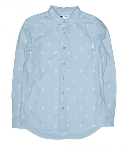 DEDICATED Shirt Varberg Poplin Ditsy Palms