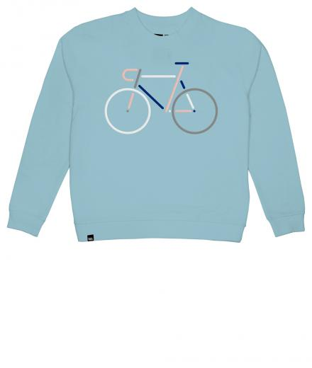 DEDICATED Sweatshirt Ystad Color Bike beach blue | XS