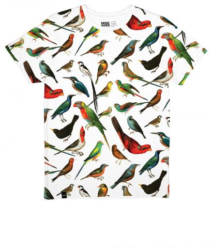 DEDICATED T-shirt Stockholm Birds white | L