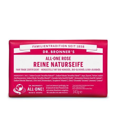 DR. BRONNER'S Bar Soap 140g Rose