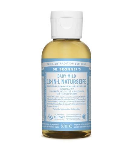 DR. BRONNER'S Liquid Soap Baby-Mild 60 ml | Baby-Mild