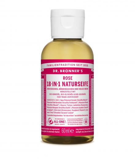 DR. BRONNER'S Liquid Soap Rose 59 ml