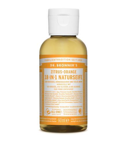 DR. BRONNER'S Liquid Soap Zitrus Orange 59 ml