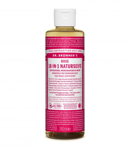 DR. BRONNER'S Liquid Soap Rose 240 ml