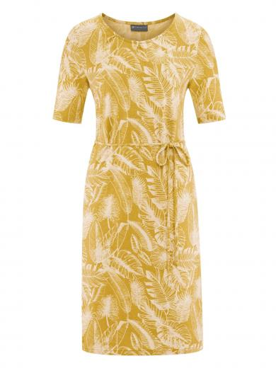 HempAge Dress Jungle Print Curry