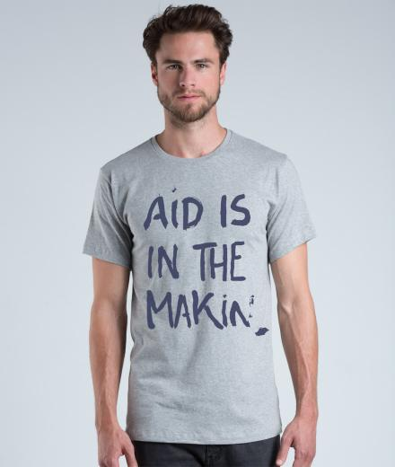 eyd T-Shirt Aid is in the making grau | M