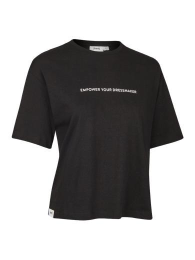 eyd Cropped T-Shirt Empower Schwarz