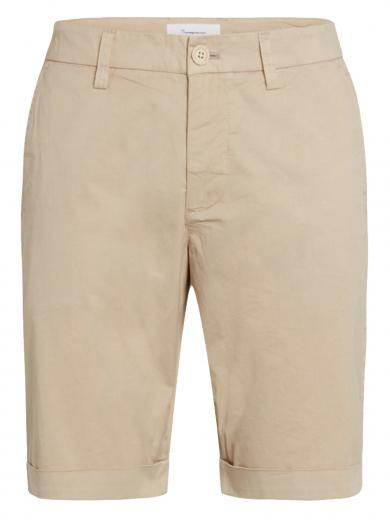Knowledge Cotton Apparel Chuck regular chino poplin shorts Light Feather Grey